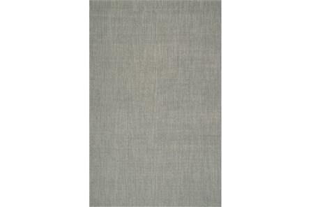 27X96 Rug-Wool Sisal Grid Silver
