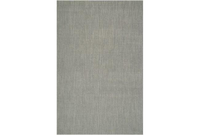 27X96 Rug-Wool Sisal Grid Silver - 360