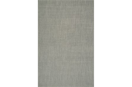 60X96 Rug-Wool Sisal Grid Silver