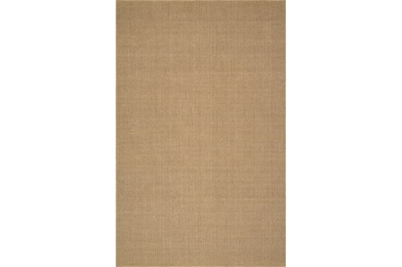 27X96 Rug-Wool Sisal Grid Wheat