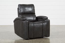 Landau Slate Power Recliner