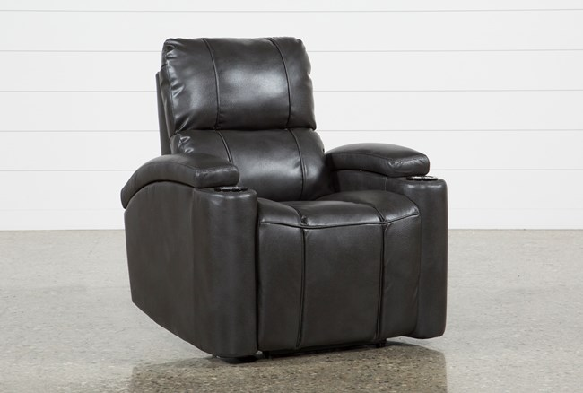 Landau Slate Power Recliner - 360