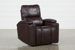 Landau Chocolate Power Recliner