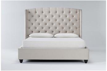 Mariah California King Velvet Upholstered Panel Bed