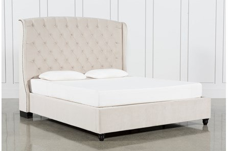 Mariah Eastern King Upholstered Panel Bed - Main