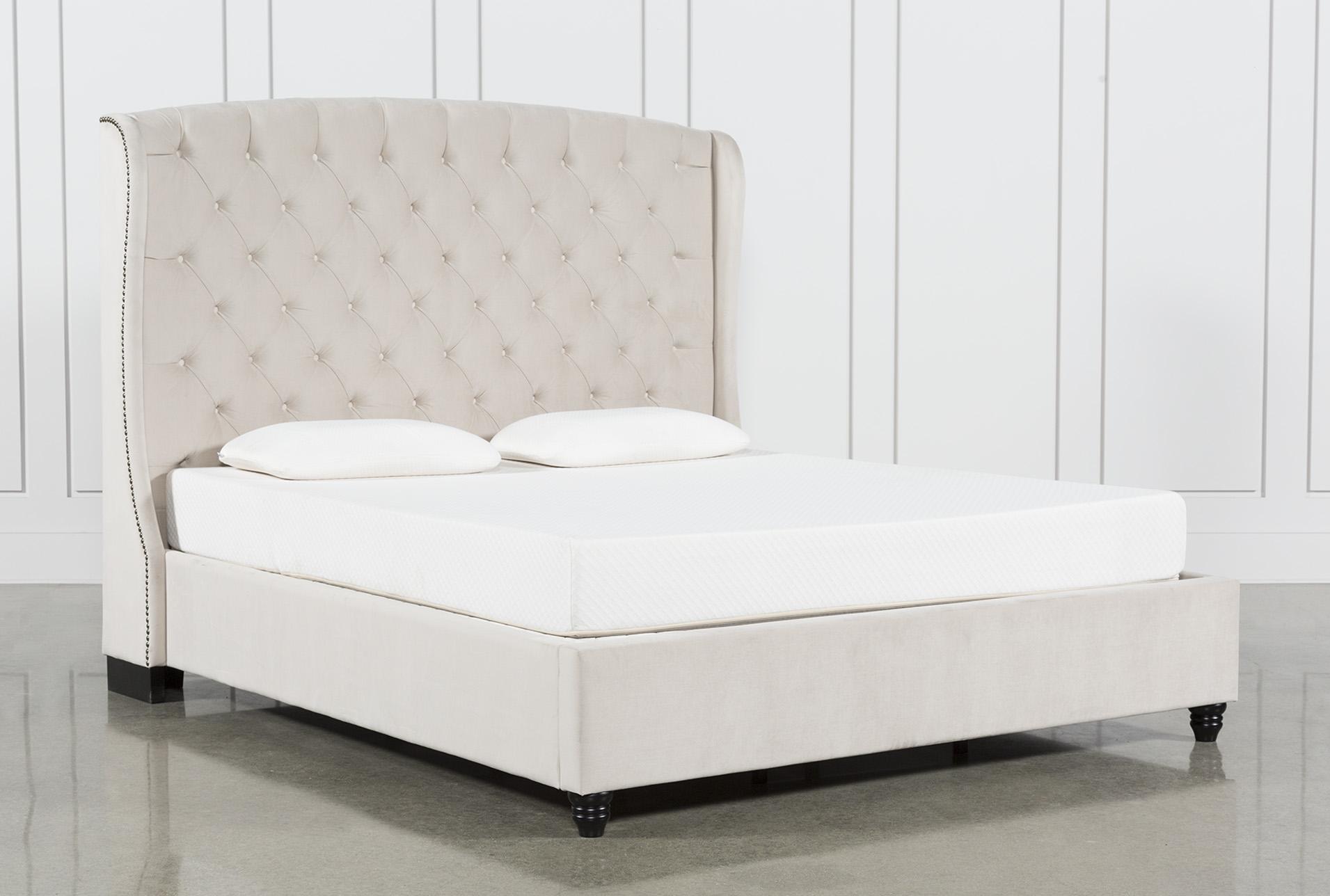 eastern king bed Mariah Eastern King Upholstered Panel Bed