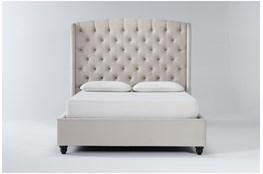 Mariah Queen Velvet Upholstered Panel Bed