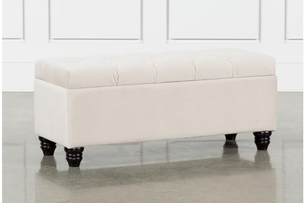 Mariah Velvet Storage Bench - Main