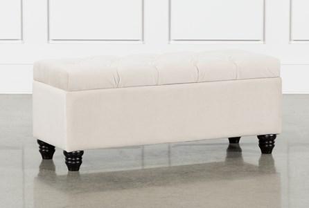 Mariah Velvet Storage Bench - Main
