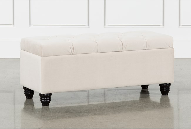Mariah Velvet Storage Bench - 360