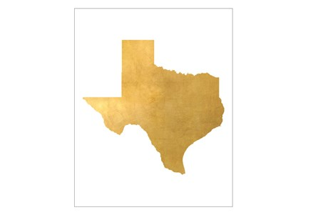 Picture-30X37 Metallic Golden Land Tx