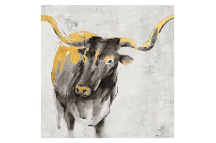 Picture-36X36 A Cow In Golden Rays - Main