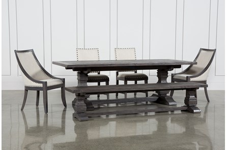 Norwood 6 Piece Rectangle Extension Dining Set - Main