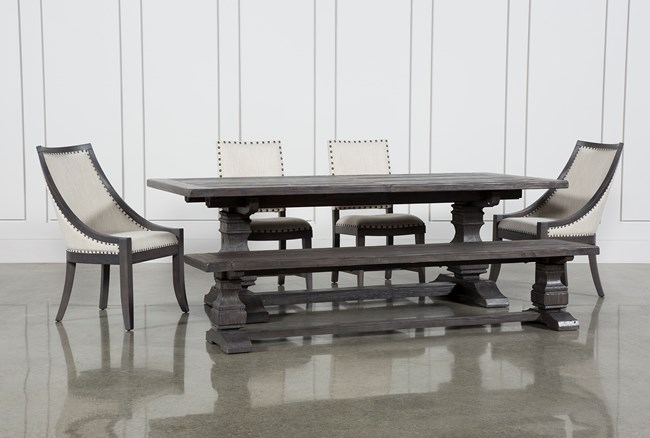 Norwood 6 Piece Rectangle Extension Dining Set - 360