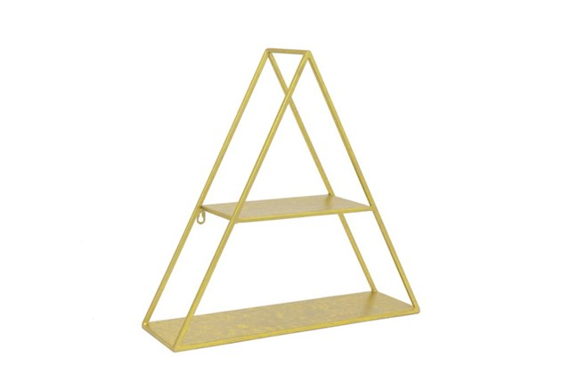 Youth-20 Inch Gold Triangle Wall Shelf - 360
