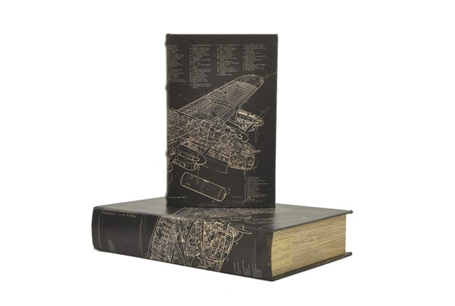 Youth-2 Piece Set Airplane Book Box - 360