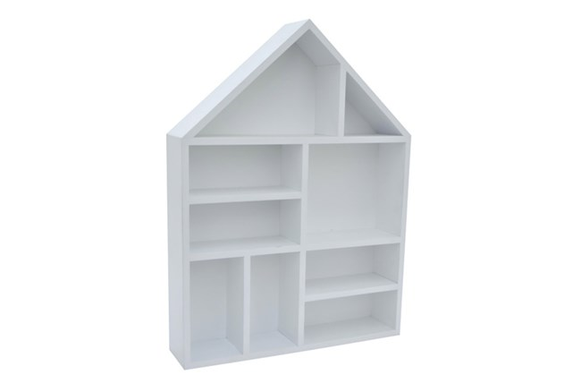 Youth-White Wood Wall Shelf - 360