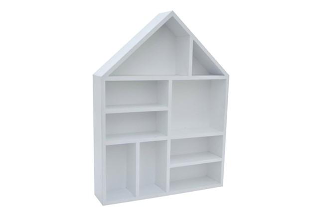 Youth-White Wood Wall Shelf - 360