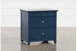 "Taylor Navy 26"" Nightstand"