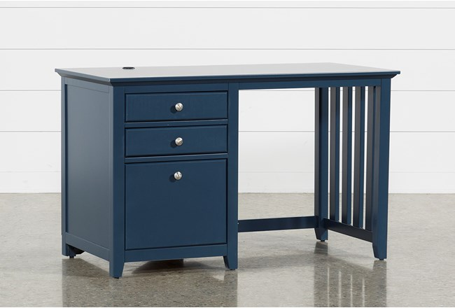 "Taylor Navy 48"" Desk With USB - 360"