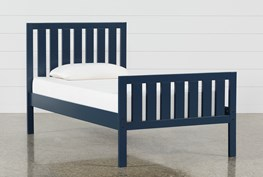 Taylor Navy Twin Slat Panel Bed