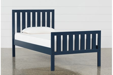 Taylor Navy Twin Slat Panel Bed - Main