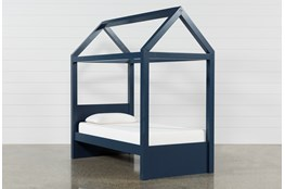 Taylor Navy Twin Canopy House Bed