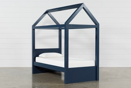 Taylor Navy Twin Canopy Bed