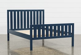 Taylor Navy Full Slat Panel Bed