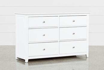 Taylor White 6 Drawer Dresser