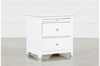 "Taylor White 26"" Nightstand"
