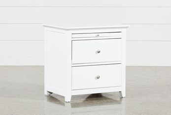 """Taylor White 26"""" Nightstand"""