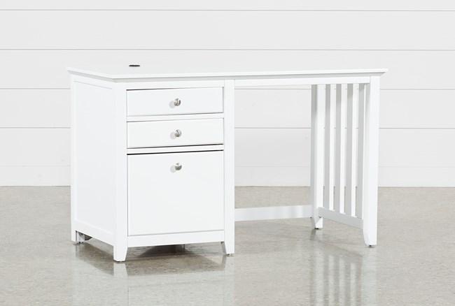 Taylor White Desk - 360