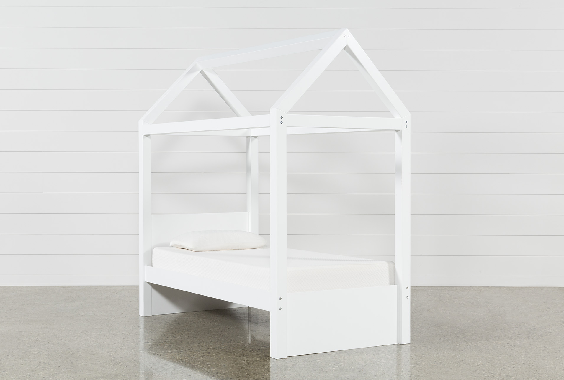 - Taylor White Twin Canopy House Bed Living Spaces