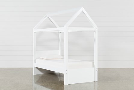 Taylor White Twin Canopy Bed