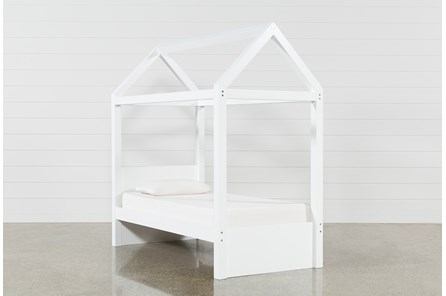 Taylor White Twin Canopy House Bed