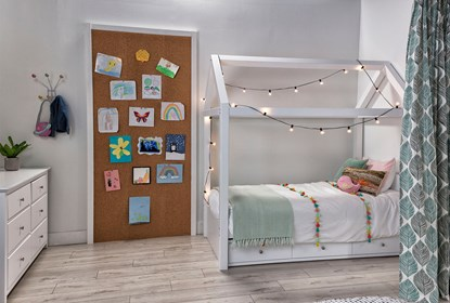 Taylor White Twin Canopy House Bed With 3 Drawer Storage
