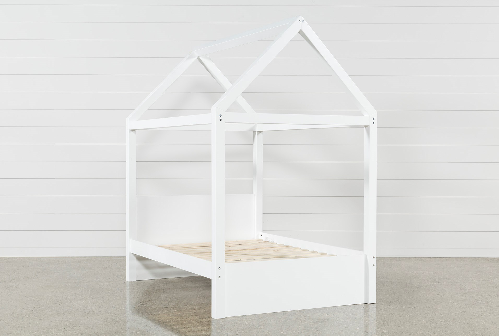 Taylor White Full Canopy House Bed Qty 1 Has Been Successfully Added To Your Cart