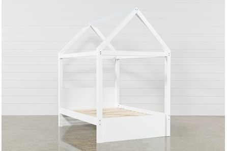 Taylor White Full Canopy House Bed
