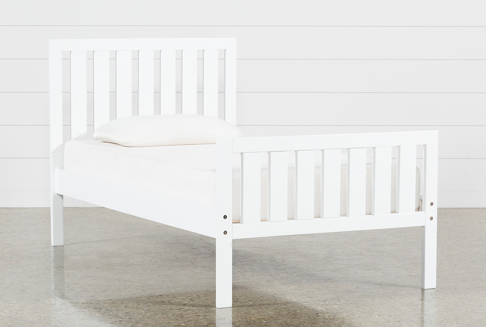 856f8d76bc1c Taylor White Twin Slat Panel Bed (Qty  1) has been successfully added to  your Cart.