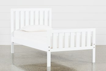 Taylor White Twin Slat Panel Bed