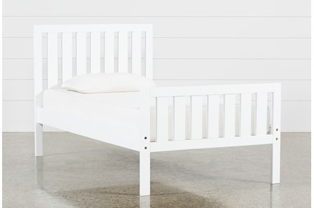 Taylor White Twin Slat Panel Bed - Main