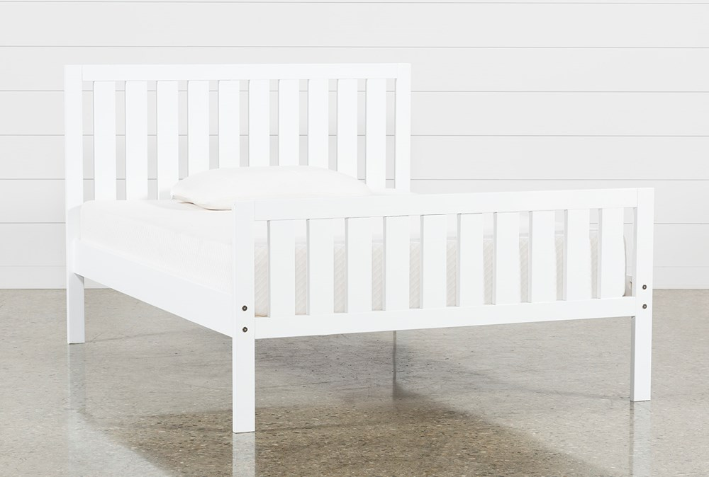 Taylor White Full Slat Panel Bed