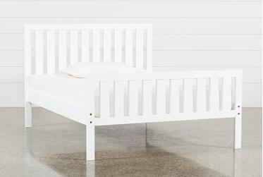 Taylor White Full Slat Panel Bed