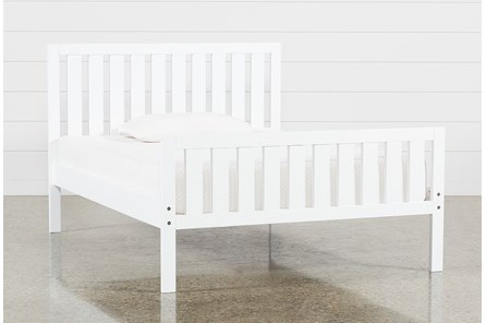 Taylor White Full Slat Panel Bed - Main