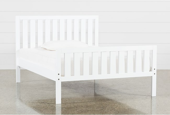 Taylor White Full Slat Panel Bed - 360