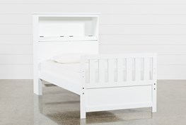Taylor White Twin Bookcase Bed
