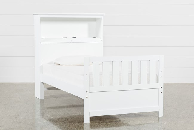 Taylor White Twin Bookcase Bed - 360