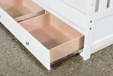 Taylor White Twin Bookcase Bed With Double 3- Drawer Storage - Storage