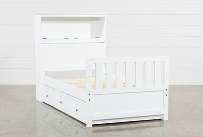 Twin Bookcase Bed With Trundle And Usb